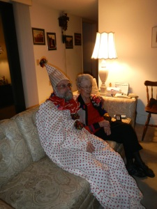 Clowning at 90th Birthday Party